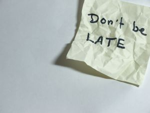 Never be late for a meeting